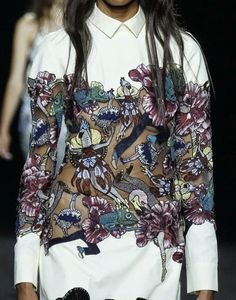 patternprints journal: PRINTS, PATTERNS AND SURFACES FROM LONDON FASHION WEEK (WOMAN COLLECTIONS SPRING/SUMMER 2015) / Mary Katrantzou