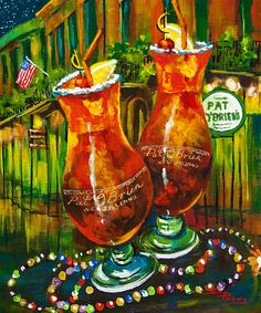 Pat o'brien's hurricanes...how my parents rode out their first NOLA hurricane!