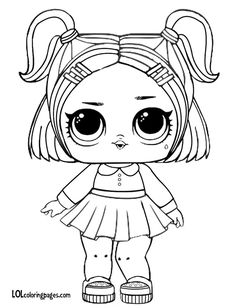 Lol Lil Sisters Coloring Pages from Lol Doll Coloring Pages Printable. Toys LOL are treading the peak of popularity among children throughout the world. Even though the doll inside the LOL Surprise ball is not exactly rev. Unicorn Coloring Pages, Coloring Sheets For Kids, Coloring Pages For Girls, Cute Coloring Pages, Flower Coloring Pages, Cartoon Coloring Pages, Christmas Coloring Pages, Printable Coloring Pages, Coloring Books