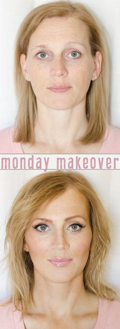 Monday Makeover! Really cool tips and tricks for freckled faces!