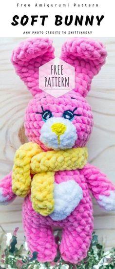 Mesmerizing Crochet an Amigurumi Rabbit Ideas. Lovely Crochet an Amigurumi Rabbit Ideas. Crochet Amigurumi Free Patterns, Easy Crochet Patterns, Free Crochet, Amigurumi Tutorial, Crochet Rabbit, Crochet Bunny, Crochet Doll Clothes, Crochet Dolls, Amigurumi For Beginners