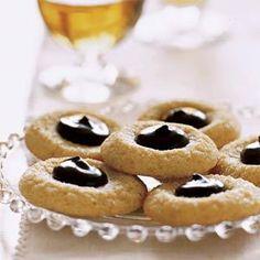 Chocolate Thumbprint Cookies Recipe | MyRecipes.com
