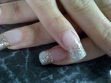 silver and gold #acrylic #nails