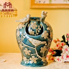 European ceramic water fountain modern home decorations ornaments creative crafts ornaments living room table