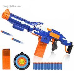 부드러운 총알 장난감 총 저격 소총 플라스틱 총 & 20 총알 1 대상 전기 총 장난감 크리스마스 생일 선물 장난감