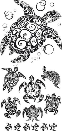 Hawaiian tribal designs-swap the top one's shell for a soccer ball and i'm golden #polynesiantattoosanimal