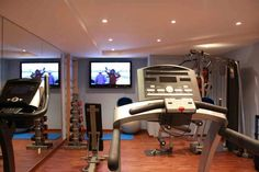 Salle fitness au Spa Les Thermes