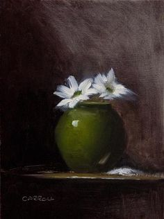"""Chrysanthemums"" - Original Fine Art for Sale - © Neil Carroll"