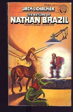 The Return of Nathan Brazil by Jack L. Chalker, http://www.amazon.com/dp/0345283678/ref=cm_sw_r_pi_dp_GMYFqb0G6F06D