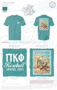 Pi Kappa Phi | Pi Kapp | Pi Kappa Phi Formal | Pi Kapp Formal | Rose Ball Tee Shirt Design | Formal Tee Shirt Design | Beach Tee Shirt Design | South by Sea | Fraternity Shirts | Fraternity Tanks | Greek Shirts