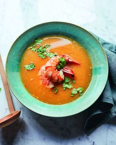 A really simple but flavour-packed Thai-style soup that you can easily make in half an hour. It would make a tasty starter as part of a Thai-inspired feast. Thai Curry Recipes, Prawn Recipes, Soup Recipes, Thai Chicken Curry, Fish Curry, Seafood Soup, Delicious Magazine, Recipe Using, Food Photography