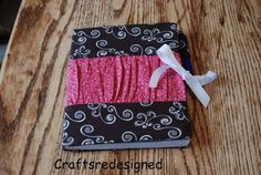 Crafts reDesigned: ruffled notebook cover