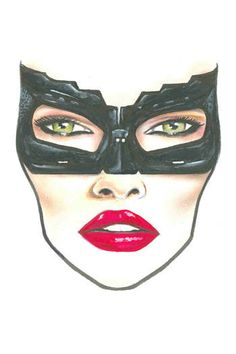 EXCLUSIVE: MAC HALLOWEEN FACE CHARTS 2012. Cat Woman