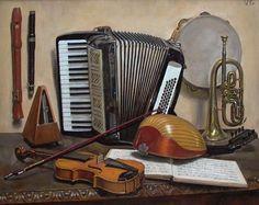 Картинки по запросу натюрморт с аккордеоном
