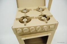 Cardboard kitchen stove