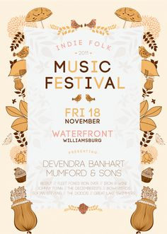 Indie Folk Music Festival poster