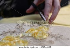 Hand Holding Scissors Over Yellow White Stock Photo (Edit Now) 624344060 Hand Holding, Holding Hands, White Stock Image, White Fabrics, Scissors, Photo Editing, Floral Design, Royalty Free Stock Photos, Yellow