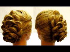 Вечерняя прическа. Красивая прическа с косами. Видео урок - YouTube