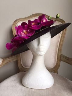 A personal favourite from my Etsy shop https://www.etsy.com/au/listing/484128405/black-hat-with-magenta-orchids-gorgeous