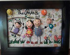 handgefertigte Gemälde eigene Familienporträt von familypresents