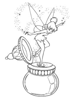 Activity Tinkerbell Coloring Pages - Tinkerbell cartoon coloring pages