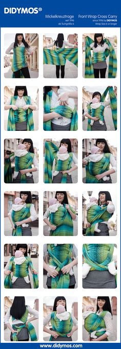 DIDYMOS FWCC - Front Wrap Cross Carry, first shown 1996 with glw, after DIDYMOS Sizing system from size 1-12  #TyingInstructions #diymos