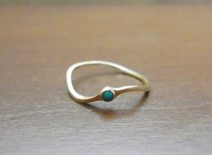 ring K10YG turquoise by kas