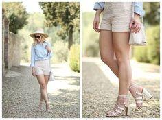 Oxa Shoes. Lace Short. Denim Shirt. eks mamah.