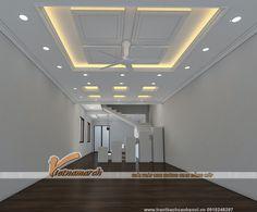 Phương án thiết kế tran thach cao cho nhà ống 4 tầng - Hưng Yên House Ceiling Design, Ceiling Design Living Room, Bedroom False Ceiling Design, False Ceiling Living Room, Living Room Designs, House Design, Pop Design, Wall Design, Acoustic Ceiling Tiles
