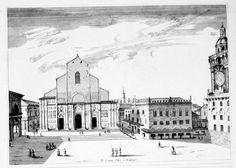 """JOAN BLAEU - PIERRE MORTIER  """"Le Grand Place a Boulonge"""" (San Petronio)  Dall'opera: Nouveau Théâtre d'Italie, Amsterdam, 1704/5"""