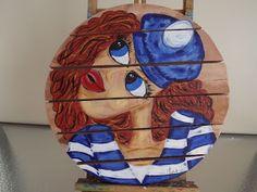 Paint a Sailor Girl in Acrylics Acrylics, Sailor, Arts And Crafts, Portraits, Christmas Ornaments, Holiday Decor, Pretty, Artist, Blog