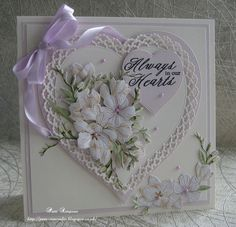 DT samples for Tattered Lace.New Blockbuster launch on Create and Craft TV today Thursday Flora. Create And Craft Tv, Tattered Lace Cards, Purple Cards, Shabby Chic Cards, Mother's Day Greeting Cards, Beautiful Handmade Cards, Mothers Day Cards, Handmade Birthday Cards, Pretty Cards