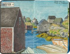 Estampas de las carreteras norteamericanas: los dibujos de Chandler O'Leary.