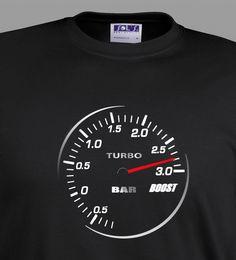 Turbo T Shirt Turbometer 3.0 BAR JDM Boost