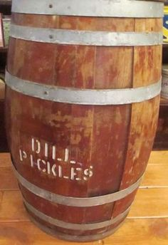 Find & Bid On Lot# 99 - Dill Pickle Barrel - Wooden Co - Now For Sale At Auction