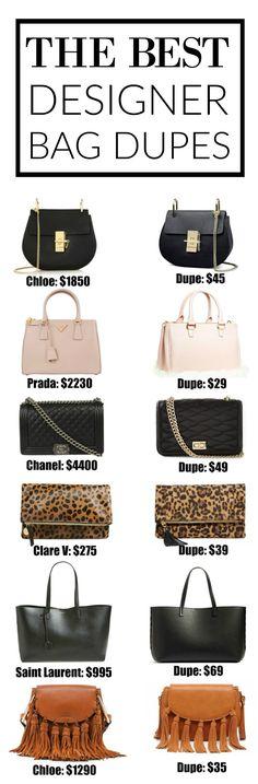 These look so similar!!!!!! | Fashion blogger Mash Elle shares a complete designer bag dupe guide! Affordable designer bag dupes for Chloe, Gucci, Goyard, Gucci, Prada, Chanel, Clare V, Saint Laurent, Valentino, Fendi, Burberry, Givenchy and Mulberry!