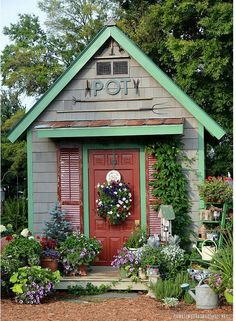 Whimsical Garden Shed Amp Stream Garden Structures
