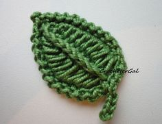 free leaf crochet pattern
