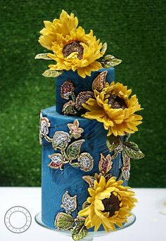 Still Life - The Sunflowers - Birthday Cake by Jackie Florendo