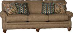Mayo Furniture 8590F Fabric Sofa - Tuscan Sandalwood