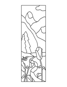 ★ Stained Glass Patterns for FREE ★ glass pattern 304 ★