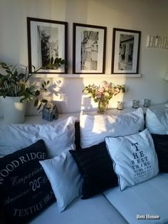 B&W White Slip, All White, Black And White, Slipcovers, Bed Pillows, Pillow Cases, Sweet Home, Living Room, Interior