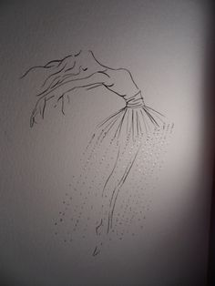 Dance drawing. It is realistic.
