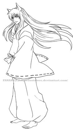 Inuyasha Lineart By Roots Love InuyashaColoring PagesRoots