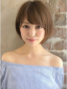 Asian Short Hair, Asian Hair, Girl Short Hair, Haircuts Straight Hair, Girls Short Haircuts, Medium Hair Cuts, Short Hair Cuts, Short Hair Styles For Round Faces, Love Hair