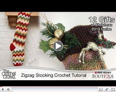 Crochet Zigzag Stocking Tutorial