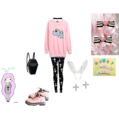 """Pastel Goth Bunny"" by nekohime123 on Polyvore"