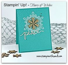 Stampin Up Flurry of Wishes Peace Card by Sandi www.stampinwithsandi.com