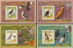 Official thematic - topical stamps, new stamp issues Birds Of Prey, Stamps, Baseball Cards, Postage Stamps, Seals