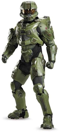 Be ready for the Halloween holiday or any costume party with the Halo Master Chief Ultra Prestige Costume. An officially licensed Halo product, it includes jumpsuit with molded armor, hood, full helmet with lights, and gloves. Halo Master Chief, Master Chief Armor, Master Chief Cosplay, Master Chief Costume, Halloween Costumes For Teens, Adult Costumes, Cosplay Costumes, Wicked Costumes, Halloween 2018